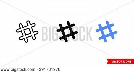 Slack Icon Of 3 Types Color, Black And White, Outline. Isolated Vector Sign Symbol.