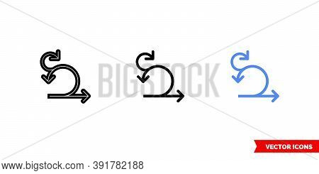 Sprint Iteration Icon Of 3 Types Color, Black And White, Outline. Isolated Vector Sign Symbol.