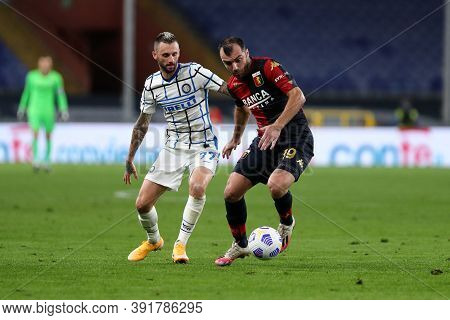 Genova, Italy. 24th October 2020. Goran Pandev Of Genoa Cfc In Action During The Serie A Match Betwe