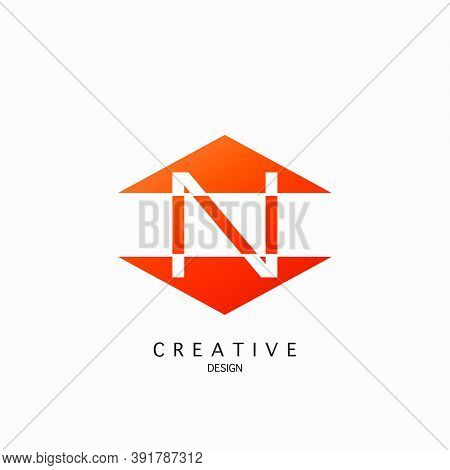 Logo N Letter Techno Triangle Geometrical, Design Concept Triangle Geometric Shape Letter  Logo Icon