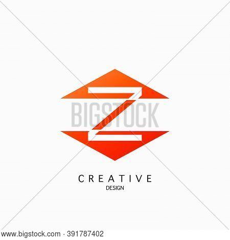 Logo Z Letter Techno Triangle Geometrical, Design Concept Triangle Geometric Shape With  Letter Y Lo