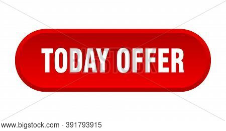 Today Offer Button. Rounded Sign On White Background