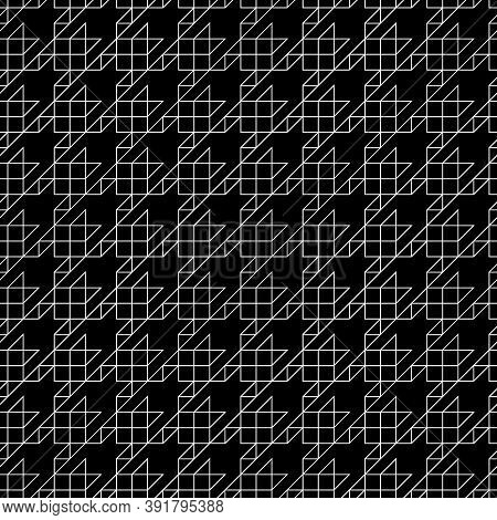 Seamless Surface Pattern Design With Houndstooth Ornament. Squares, Triangles, Sign Wallpaper. Fabri