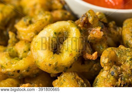 Homemade Deep Fried Calamari Appetizer