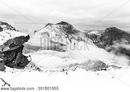 Crater Of Mount Aragats, Northern Summit, At 4, 090 M , Armenia.