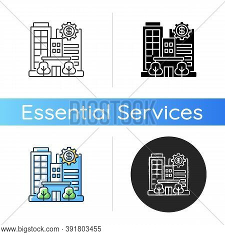 Banks And Financial Institutions Icon. Business Operations. Banking Institutions. Investment Compani