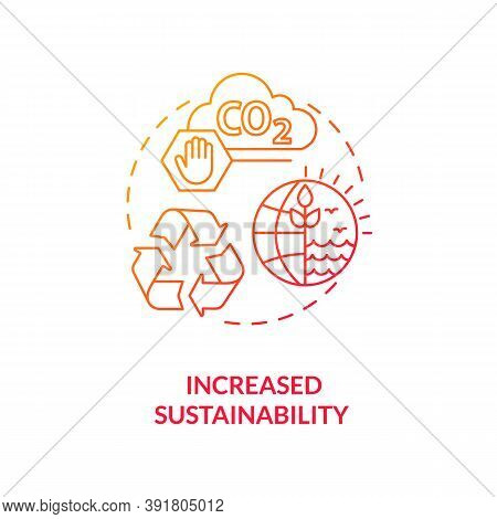 Increased Sustainability Concept Icon. Reverse Globalization Idea Thin Line Illustration. Resource D