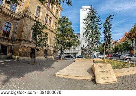 Cluj-napoca, Romania - September 20, 2020: The Statuary Group Transylvanian School, Unveiled In 1973