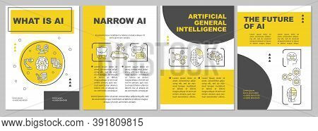 Ai Brochure Template. Artificial Intelligence. Innovative System. Flyer, Booklet, Leaflet Print, Cov