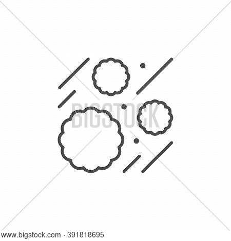 Blood Leukocytes Line Outline Icon Isolated On White. Vector Illustration