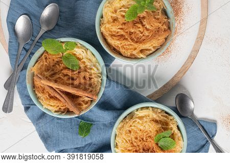 Aletria Is A Classic Portuguese Vermicelli Pudding And This Is A Traditionally Served At Christmas T