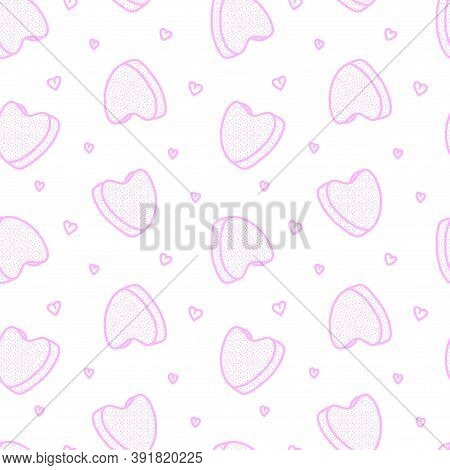 Seamless Pattern From A Menstrual Cup. Feminine Hygiene Product. Menstrual Protection. Monthly Cycle