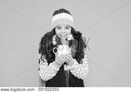 Best Hand Warmer. Winter Vibes. Happy Girl Hipster. Kid Winter Fashion. Feeling Good Any Weather. St