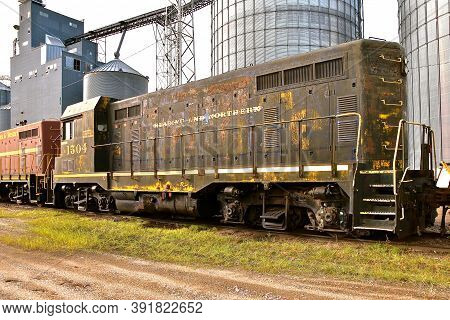 Breckenridge, Minnesota, Sept 12, 2020:  Reading And Northern Railroad, Is A Regional Railroad Opera