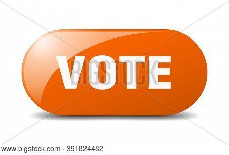 Vote Button. Vote Sign. Key. Push Button.