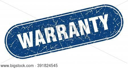 Warranty Sign. Warranty Grunge Blue Stamp. Label