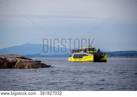 Sunshine Coast, British-columbia / Canada - 10/25/2020: The Prince Of Whales Eco-tourism Whale Watch