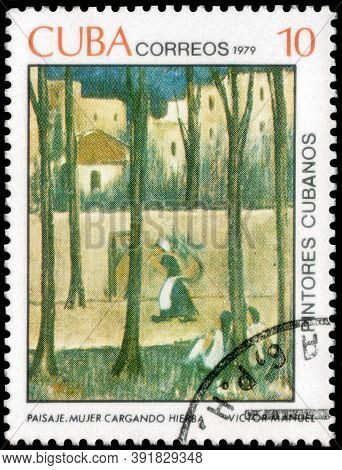 Saint Petersburg, Russia - September 18, 2020: Postage Stamp Issued In The Cuba The Image Of The Her