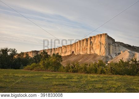 White Rock In The Crimea. White Rock Sights Of Crimea. High Rock Rocky Mountain. White Rock Against