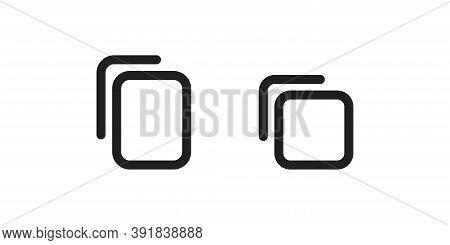 Attach File Web Icon. Document Save Concept Symbol. Clip, Design Element In Vector Flat