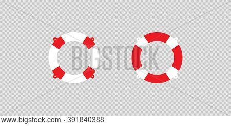 Lifebouy Icon. Life Saver Symbol, Bouy Sign. Lifeguard Illustration Concept In Vector Flat