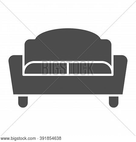 Sofa Solid Icon, Furniture Concept, Couch Sign On White Background, Divan For Living Room Icon In Gl