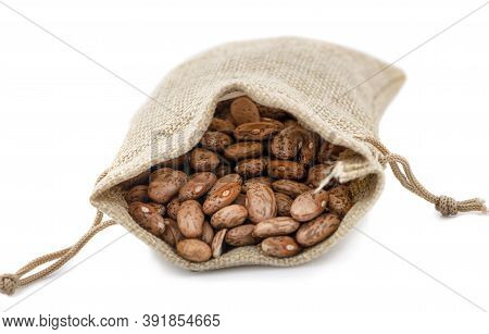Pile Of Pinto Beans Isolated On White Background