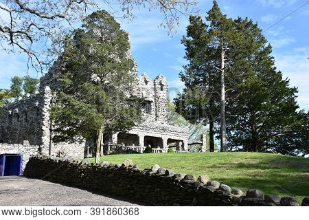 East Haddam, Ct - May 16: Gillette Castle State Park In East Haddam, Connecticut, As Seen On May 16,