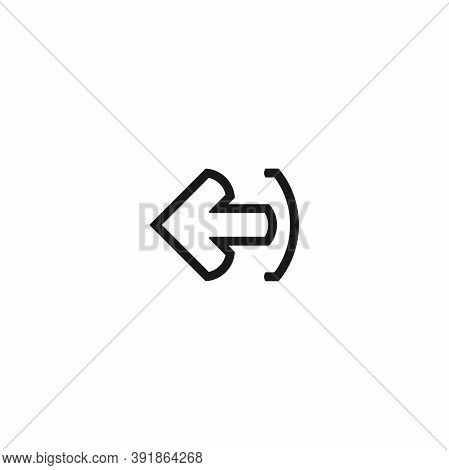 Exit Or Logout, Log Off Icon. Isolated On White. Black Line