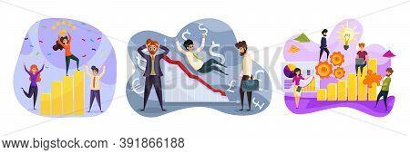 Business, Teamwork, Repair, Service, Profit, Finance, Success Set Concept. Collection Team Of Wealth