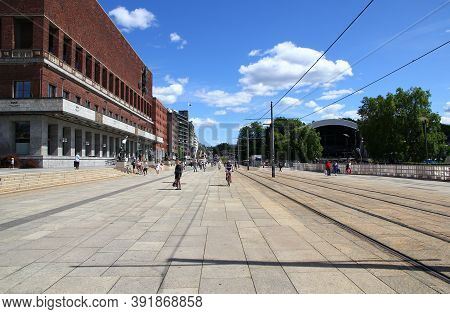 Oslo, Norway - 27 Jun 2012: The City Hall In Oslo, Norway