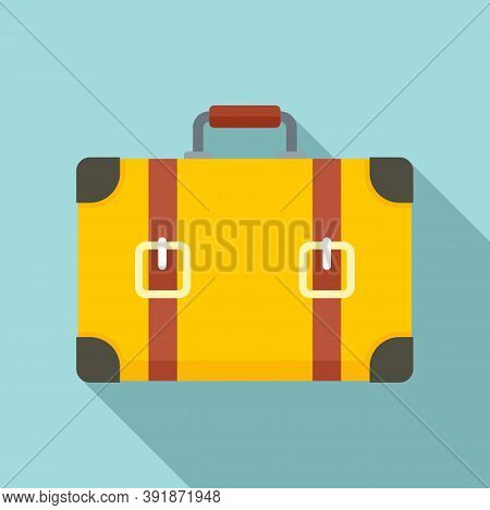 Travel Suitcase Icon. Flat Illustration Of Travel Suitcase Vector Icon For Web Design