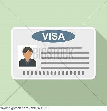 Visa Card Icon. Flat Illustration Of Visa Card Vector Icon For Web Design