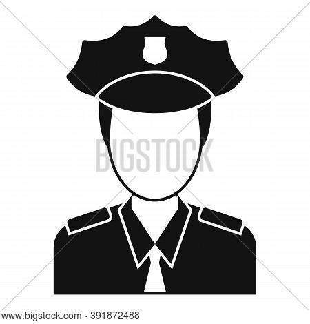 Airport Police Officer Icon. Simple Illustration Of Airport Police Officer Vector Icon For Web Desig
