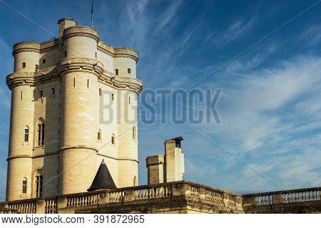 View Of Castle Of Vincennes In Vincennes, Paris. France