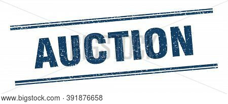 Auction Stamp. Auction Label. Square Grunge Sign