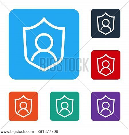 White User Protection Icon Isolated On White Background. Secure User Login, Password Protected, Pers