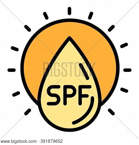 Sunscreen Protection Icon. Outline Sunscreen Protection Vector Icon For Web Design Isolated On White