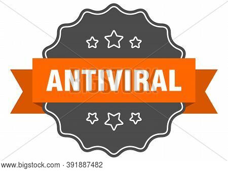 Antiviral Label. Antiviral Isolated Seal. Sticker. Sign