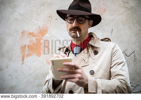 Detective taking notes in a ghetto