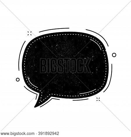 Chat Bubble Icon. Grunge Distress Stamp Balloon. Contact Message Sign. Talk, Speak Symbol. Communica