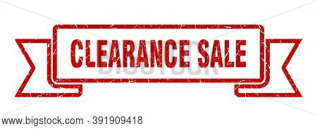 Clearance Sale Grunge Vintage Retro Band. Clearance Sale Ribbon