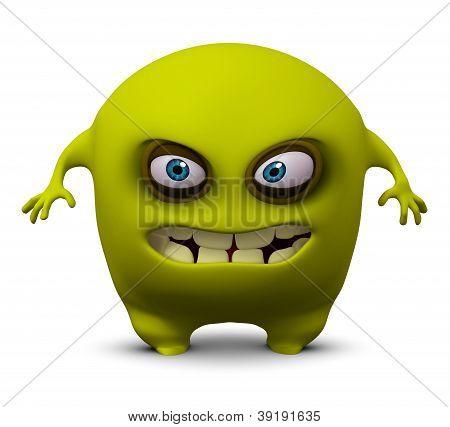 3 d cartoon cute yellow beast monster poster