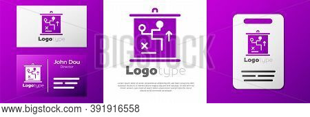 Logotype Planning Strategy Concept Icon Isolated On White Background. Cup Formation And Tactic. Logo