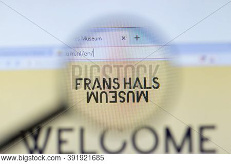 New York, Usa - 26 October 2020: Frans Hals Museum Company Website With Logo Close Up, Illustrative
