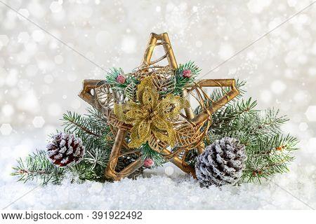 Festive Composition With A Christmas Star.