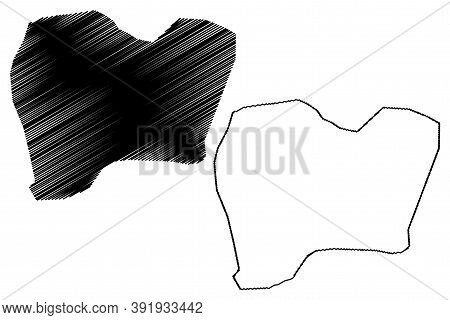 Lusaka City (republic Of Zambia, Lusaka Province) Map Vector Illustration, Scribble Sketch City Of M