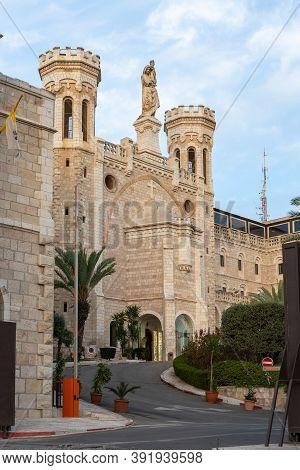 Jerusalem, Israel, October 24, 2020 : The Notre Dame Of Jerusalem Center At Hatsanhanim Street Near