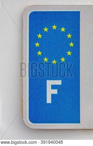 France Vehicle Registration Plates European Union Stars