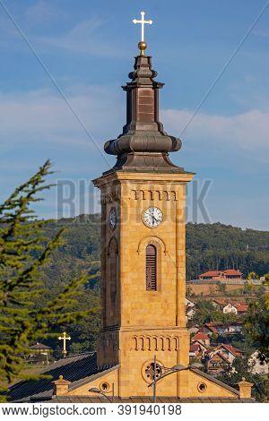 Orthodox Church Tower In Gornji Milanovac Serbia